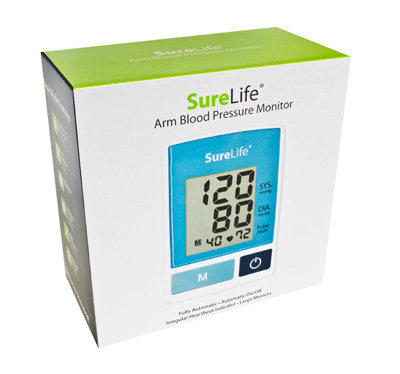 SureLife Automatic Arm Blood Pressure Monitor Blue 860213