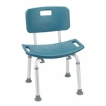Drive Medical Teal Bathroom Safety Shower Tub Bench Chair with Back 12202kdrt-1