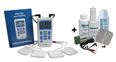 ProM-720 TENS & EMS Stimulation Combination Unit plus Accessory Kit