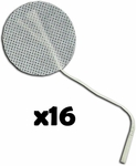 TENS Electrodes by BodyMed 2 in Round, White Mesh Backed - 16 Pads NPP618