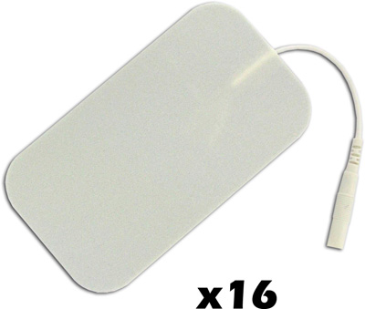 TENS Electrodes by BodyMed 2x3.5 in Rectangle, White Foam - 16 Pads - NPP619
