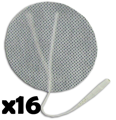 TENS Electrodes by BodyMed 3 in Round, White Mesh Backed - 16 Pads