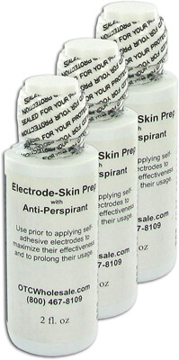 TENS Skin Prep Lotion for TENS Unit Skin Preparation with Anti-Perspirant - 2 oz (3 Pack)
