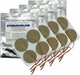 TENS Unit Electrode Pads, Tan Mesh Backed, 2 in Round - 16 Pads