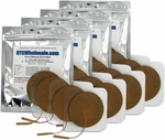 TENS Unit Electrode Pads, Tan Mesh Backed, 3 in Round - 16 Pads