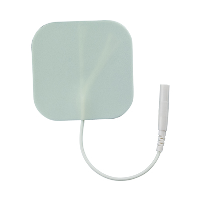 TENS Unit Electrode Pads, White Foamed Backed, 2 x 2 in Square - 16 Pads