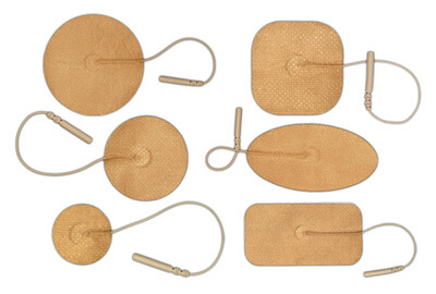 BioTENS (Formerly TENS STPWT) TENS Unit Tan Mesh Backing Silver Electrodes - Sample Pack of Assorted Sizes