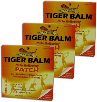 Tiger Balm Pain Relieving Patches - 5 ea (3 Pack)