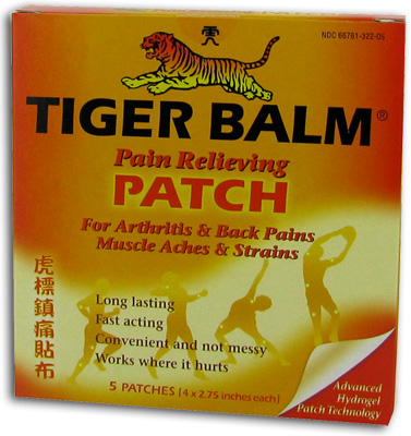 Tiger Balm Pain Relieving Patches - 5 ea
