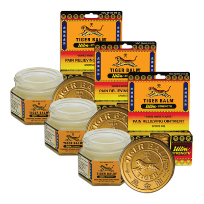 Tiger Balm Ultra Pain Relieving Ointment - .63 oz (3 Pack)