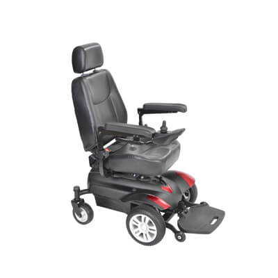 Drive Medical Titan Front Wheel Power Wheelchair 18 inch Captain Seat titan18cs