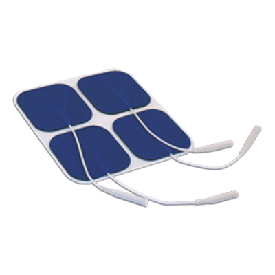 TOP TENS OTC Electrodes 2 x 2 in Square, Blue Mesh Backed - 4 Pads E1P2020BC-TT