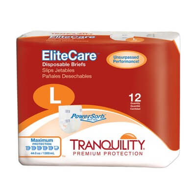 Tranquility EliteCare Disposable Briefs - Large - 2413