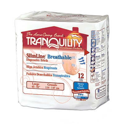 Tranquility SlimLine Breathable Briefs - Large - 2306