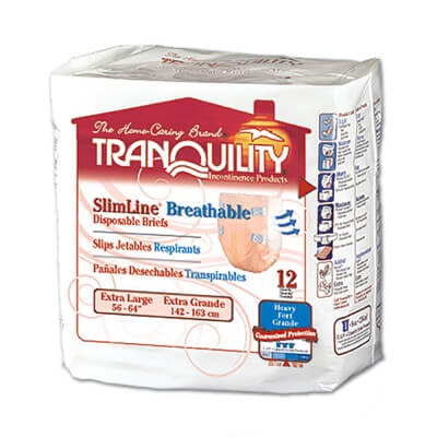 Tranquility SlimLine Breathable Briefs - X-Large - 2307