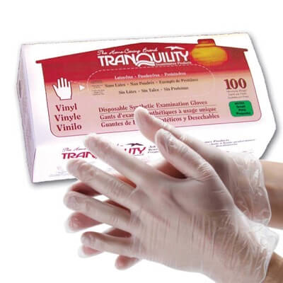 Tranquility Vinyl Exam Gloves