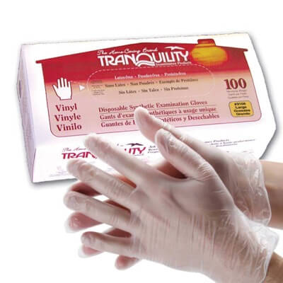 Tranquility Vinyl Exam Gloves - Large - 3106