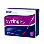 TRUEPLUS Insulin Syringe 28G, 0.5CC, 1/2in