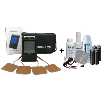 Ultima 20 Digital Dual Channel TENS Unit - 20 Modes plus Accessory Kit
