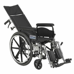 Drive Medical Viper Plus GT 18 inch Reclining Wheelchair with Full Arms pla418rbdfa