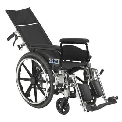 Drive Medical Viper Plus GT 20 inch Reclining Wheelchair with Full Arms pla420rbdfa