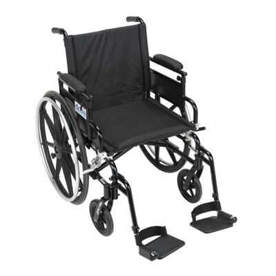 Drive Medical Viper Plus GT Wheelchair with Flip Back Removable Adjustable Desk Arm and Swing Away Footrest pla416fbdaarad-sf
