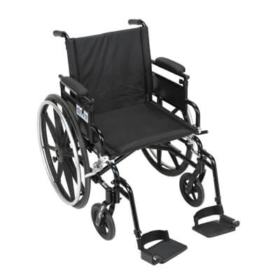 Drive Medical Viper Plus GT Wheelchair with Flip Back Removable Adjustable Desk Arm and Swing Away Footrest pla418fbdaarad-sf