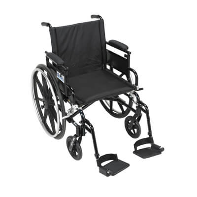 Drive Medical Viper Plus GT Wheelchair with Flip Back Removable Adjustable Desk Arm and Swing Away Footrest pla420fbdaarad-sf