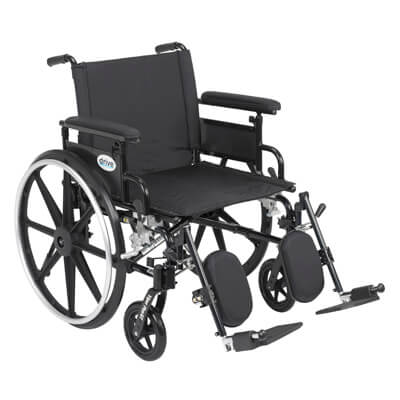 Drive Medical Viper Plus GT Wheelchair with Flip Back Removable Adjustable Full Arm and Elevating Leg Rest pla422fbfaar-elr