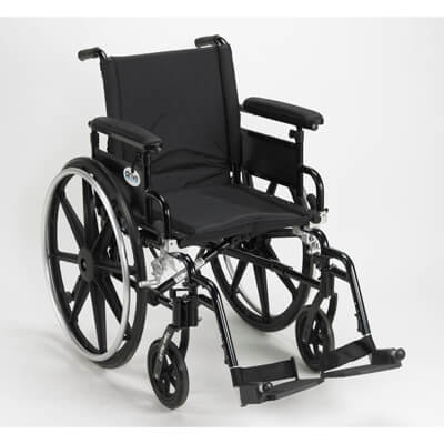 Drive Medical Viper Plus GT Wheelchair with Flip Back Removable Adjustable Full Arm and Swing Away Footrest pla418fbfaarad-sf