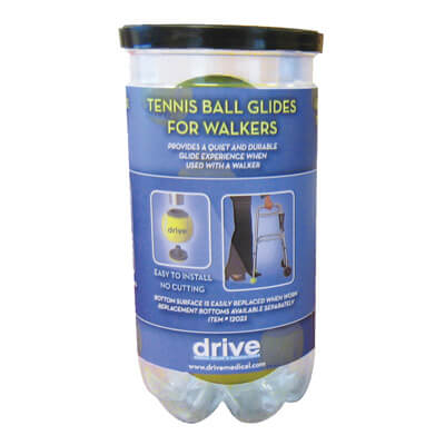 Drive Medical Walker Rear Tennis Ball Glides with Can 10119
