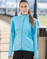 Adidas - Ladies Space Dyed Full-Zip Jacket with Thumbholes - A199 - S-2XL - 3 Colors