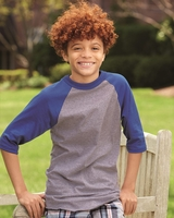 Augusta Sportswear - Youth Three-Quarter Sleeve Baseball Jersey - 421