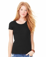 Bella - Ladies Baby Rib Short Sleeve Scoopneck T-Shirt - 1003 - 2 Colors - S-2XL