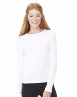 Bella - Ladies 1x1 Rib Long Sleeve T-shirt - 5001 - 3 Colors - S-2XL