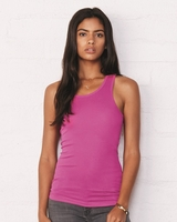 Bella - Ladies Sheer Rib Longer Length Racerback Tank - 8770 - 5 Colors - S-2XL