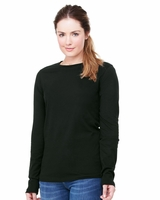 Bella - Missy Long Sleeve Crew Neck T-Shirt - 6450 - 5 Colors - S-2XL