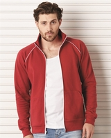Canvas - La Brea Full-Zip Fleece Cadet Collar Jacket with Piping - 3710 - 2 Colors - S-2XL