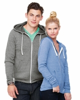 Canvas - Triblend Fleece Unisex Full-Zip Sweatshirt - 3909 - XS-2XL - 6 Colors