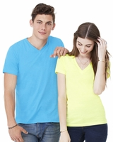 Canvas - Unisex Short Sleeve V-Neck Jersey T-Shirt - 3005 - 40 Colors - XS-2XL