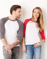 Canvas - Unisex Three-Quarter Sleeve Baseball Raglan - 3200 - 26 Colors - XS-2XL