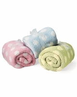 Colorado Clothing - Chunky Chenille Polka Dot Baby Blanket - 2134 - 3 Colors
