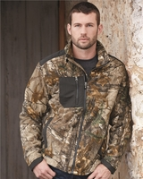 DRI DUCK - Quest Microfleece Camo Full-Zip Jacket with Polyester Panels - 7350 - S-3XL
