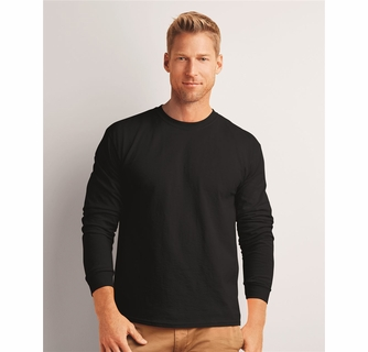 4fee16a9 Gildan Ultra Cotton Long Sleeve T-shirt (2400) - Mens Long Sleeve T ...