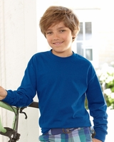 Hanes - Tagless Youth Long Sleeve T-Shirt - 5546 - XS-XL - 6 Colors