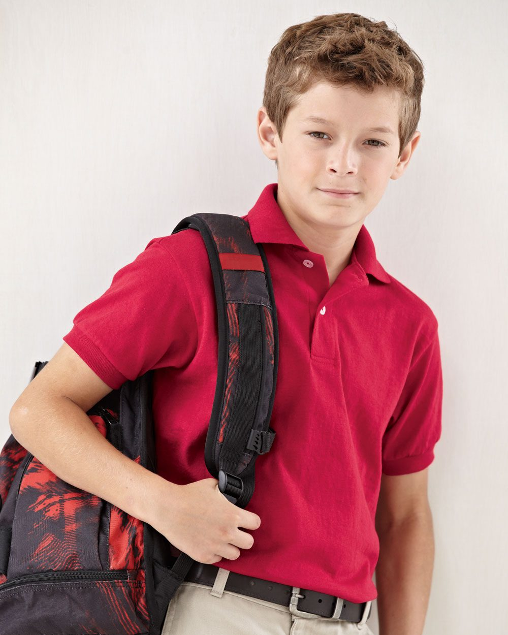 be3c34056 Hanes - Youth Ecosmart Jersey 50/50 Polo Sport Shirt - 054Y - 8 Colors -  XS-XL