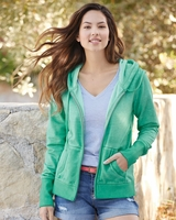 J. America - Womens Oasis Wash French Terry Hooded Full-Zip Sweatshirt - S-2XL - 5 Colors