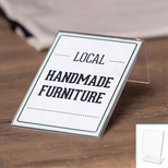 10 Mini Tabletop Sign Holder 3''W x 4''H - Set of 6 - Clear [20006-FS-DEF]