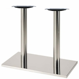 Brushed Stainless Steel 16'' x 28'' x 28.375''H Rectangle Table Base [50RE-28-SS-PMI]