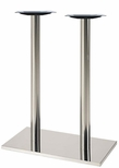 Brushed Stainless Steel 16'' x 28'' x 42.5''H Rectangle Table Base [50RE-43-SS-PMI]